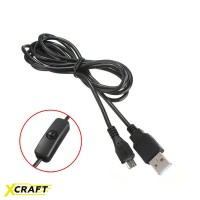 Кабель USB - micro USB с кнопкой