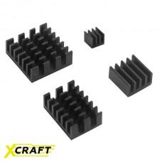 Радиаторы алюминиевые чёрные для Raspberry Pi 4