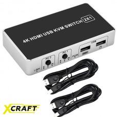 2-х портовый 4К HDMI KVM переключатель