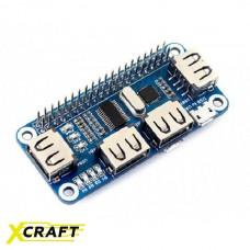 4-портовый USB HUB HAT для Raspberry Pi