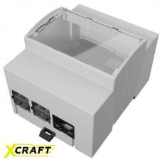 Корпус для крепления Raspberry Pi 4 Model B на DIN-рейку